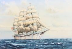 "Lot 411, Joe Francis Dowden, watercolour ""The Abraham Rydberg"" 9 1/2"" x 14"", Est £100 - 200"