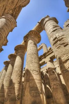 Photographic Print: Columns in the Great Hypostyle Hall, Karnak Temple, Luxor, Thebes, Egypt, North Africa, Africa by Richard Maschmeyer : 24x16in