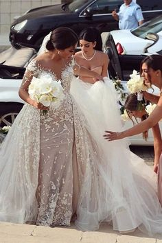 Prom Dress For Teens, 2019 Detachable Train Wedding Dresses Scoop Sheath Tulle With Applique, cheap prom dresses, beautiful dresses for prom. Best prom gowns online to make you the spotlight for special occasions. Wedding Dress Train, Applique Wedding Dress, Dream Wedding Dresses, Wedding Gowns, Wedding Dress Detachable Train, Backless Wedding, Modest Wedding, Tulle Wedding, Long Bridesmaid Dresses