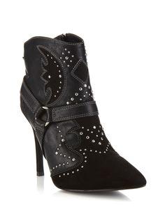 Bad black western boot