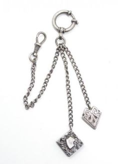 Unusual Antique 19c Victorian 800 Silver Ladies Chatelaine Watch Fob in Jewelry & Watches, Vintage & Antique Jewelry, Fine, Victorian, Edwardian 1837-1910, Other Fine Jewelry 1837-1910 | eBay