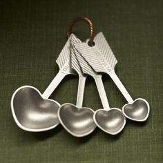 Heart Measuring Spoons from Beehive Kitchenware