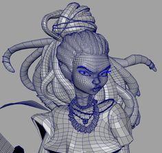 CGTalk - Huntress (Based on Loish`s concept), venomblu (3d)