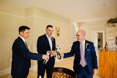 A wonderful wedding at home story proving that sometimes holiday romances do last. Marquee Wedding, Groom And Groomsmen, Home Wedding, Sons, Drink, Photography, Wedding At Home, Beverage, Photograph