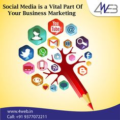 Social Media is a Vital Part of Your Business Marketing. Social Media Marketing Companies, Facebook Marketing, Business Marketing, Content Marketing, Online Marketing, Digital Marketing, Business Branding, India, Web Design