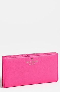 kate spade new york 'cobble hill - stacy' wallet in love pink | Nordstrom