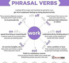 Phrasal verbs with WORK