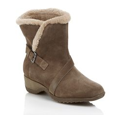 Sporto® Waterproof Suede Ankle Boot at HSN.com  Got'em in winter white!