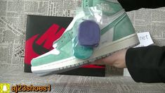 7e2b47bb767d Air Jordan 1 Retro High OG Turbo Green Unboxing HD review from aj23shoes net