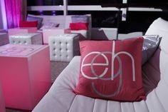 VIP Lounge Theme Party Ideas - Initials Bat Mitzvah Logo Monogram {SBZ Events} - mazelmoments.com