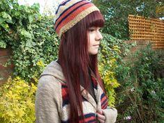 Boho Stripe Beanie, Hand Knitted, £13.99