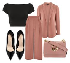 """""""Untitled #4258"""" by evalentina92 ❤ liked on Polyvore featuring Helmut Lang, Fendi and Topshop"""