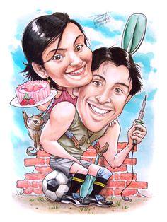 caricatura LUIS y MATILDE