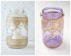¿Querés decorar un ambiente inspirado en la cultura de Marruecos? Te ayudamos: tomá esos frascos de vidrio que tenés en …