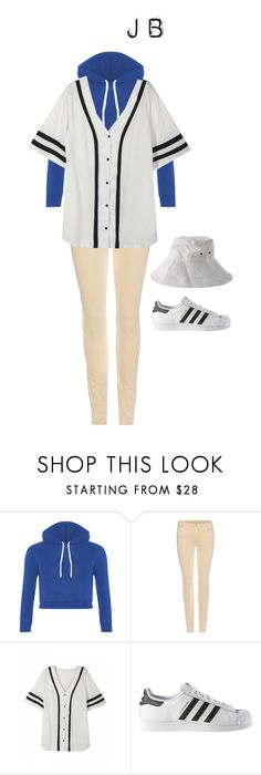 """""""Girl version of JB in the Home Run performance on 4/15/16"""" by got7outfits ❤ liked on Polyvore featuring 7 For All Mankind, adidas and Solid & Striped"""