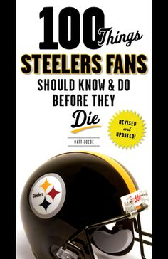 40% off 100 Things Steelers Fans Should Know & Do Before They Die to celebrate the NFL Playoffs and Super Bowl LI. Use code SUPERBOWLLI at checkout on our website! #TriumphBooks