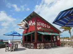 The Heads' Up Bar at Pelican Point on Castaway Cay
