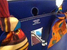 royal blue hermes bag