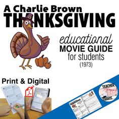 A Charlie Brown Thanksgiving Movie Viewing Guide | Worksheet | Google (1973)