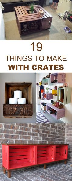 "diytotry: "" 19 Seriously Cool Things To Make With Crates →"""