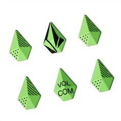 Volcom STONE STUDS Stomp Pad, Electric Green