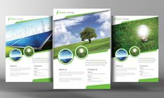 Renewable Energy Go Green Flyer by Business Templates on Creative Market