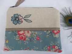 Handmade Small Cosmetic Makeup Bag or Purse by PeacockEmporiumLady