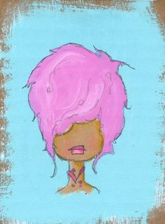 little little girls no6  an original painting by kellybarton