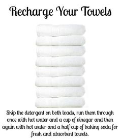 Towels that just never smelled or felt clean are CURED!! They smell amazing.