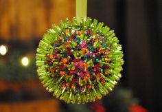 Razzle Dazzle Multicolored Sequin Ornament by AAandBeek on Etsy, $6.00