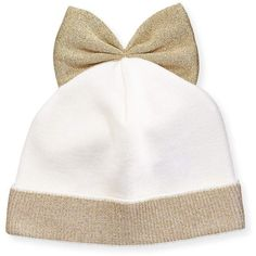 3bd039cc68a Federica Moretti Metallic-Trim Wool-Blend Beanie w  Bow ( 82) ❤ liked on Polyvore  featuring accessories