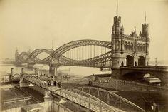 1888 Hamburg - Fertige Brücke über die Norderelbe ☺