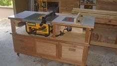 """A friend of mine is just getting into woodworking. He bought a bench top saw but I told him to forget about the stand, we will build it. This is the result. The cabinet is five feet long and 26""""... #woodworkingbench"""
