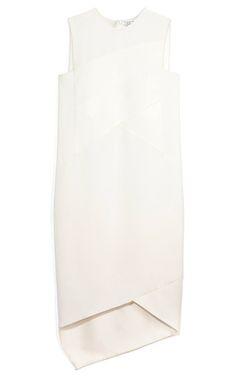 Medium narciso rodriguez white white viscose drape dress
