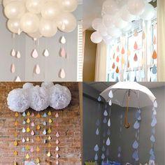 BABY SHOWER RAIN DROPS Rain Drops, Baby Shower Decorations