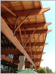 glulam detail rafter supermarket in Santa Rosa, California