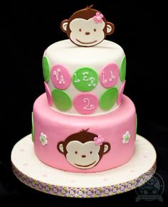 monkey cake (Kynleigh would absolutely love this for her birthday)