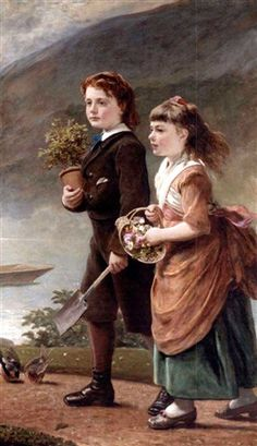 James Sant (English:1820–1916) -  The children of Major H. Barett, of Morden, Taunton