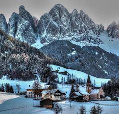 Valley of Funes,  Dolomites, Tyrol,  Italy