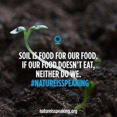 Soil is food for our #food. If our food doesn't eat, neither do we. http://natureisspeaking.org/thesoil.html #NatureIsSpeaking