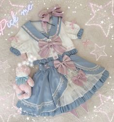 New Round Preorder: 【-The Cute Sailor-】 #SailorLolita Top Wear and Skirt Set Kawaii Fashion, Lolita Fashion, Cute Fashion, Fashion Outfits, Cosplay Outfits, Anime Outfits, Ropa Color Pastel, Pretty Outfits, Cool Outfits