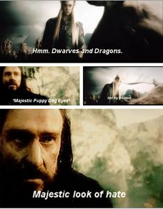 Ha!  ...yet this really wasn't cool. And didn't happen in the book. Lame. Thranduil had best have a good reason for this...