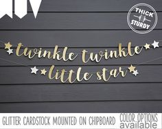 twinkle twinkle little star banner, with stars, Gender Reveal banner, Baby Shower, kid's birthday, glitter party decorations by PARTYsimplified on Etsy https://www.etsy.com/listing/490758310/twinkle-twinkle-little-star-banner-with