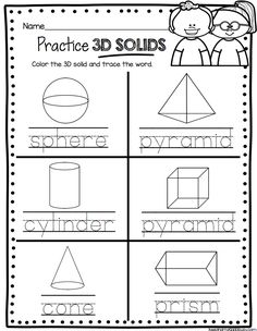 GEOMETRY - Kindergarten worksheets and activities - Math Centers - Common Core Kindergarten Math Units and Lesson Plans #kindergarten #kindergartenmath #kindergartengeoemtry #kindergartenmathcenters