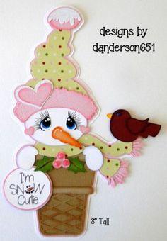 Winter-Snowman-Paper-Pieced-PreMade-Die-Cut-Scrapbook-Album-Border facebook - danderson651