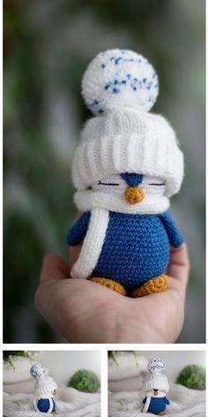 Poncho Crochet, Crochet Amigurumi Free Patterns, Christmas Crochet Patterns, Crochet Animal Patterns, Stuffed Animal Patterns, Cute Crochet, Crochet Crafts, Crochet Dolls, Knitting Patterns
