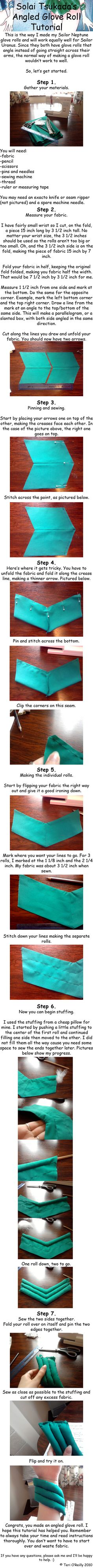 Angled Glove Roll Tutorial by Solai-Tsukada