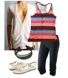 Trendy, yet comfy chic summer outfit.