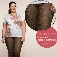É possível sim usar uma calça estampada sem que seu quadril /perna pareçam mais largos. @Vínculo Basic