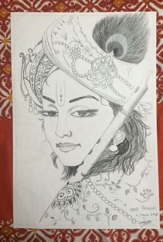 Krishna #sketch #not original #tried to make it as good as possible. Made by Vani Pachisia